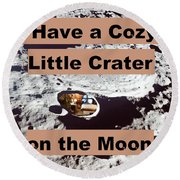 Crater26 Round Beach Towel