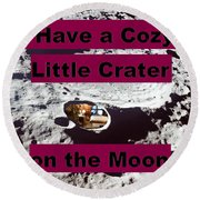 Crater33 Round Beach Towel