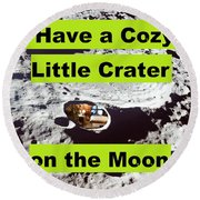 Crater39 Round Beach Towel