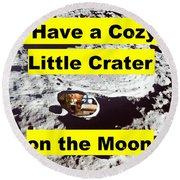 Crater4 Round Beach Towel