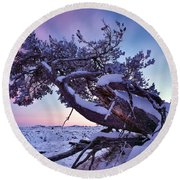 Craters Of The Moon Round Beach Towel