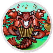 Crawfish Band Round Beach Towel