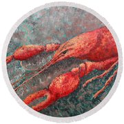 Crawfish Round Beach Towel