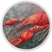Crawfish Round Beach Towel