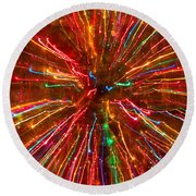 Crazy Fun Colorful Abstract Round Beach Towel