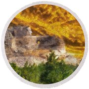 Crazy Horse Monument Pa Round Beach Towel