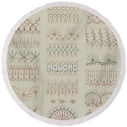 Crazy Quilt Round Beach Towel