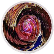 Crazy Swirl Art Round Beach Towel