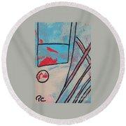 Cream Colored Door Round Beach Towel