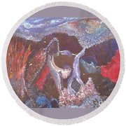 Creation Round Beach Towel