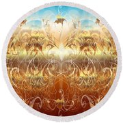 Creation II Round Beach Towel