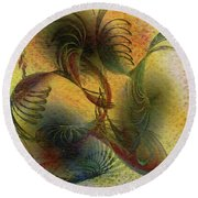 Creation Symphony Round Beach Towel