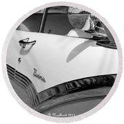 Creative Chrome - 1956 Ford Fairlane Victoria Round Beach Towel