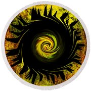 Creative Minds It Started With A Dahlia Round Beach Towel