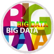Creative Title - Big Data Round Beach Towel