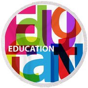 Creative Title - Education Round Beach Towel
