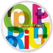 Creative Title - Opportunity Round Beach Towel