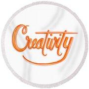 Creativity Round Beach Towel by Cindy Garber Iverson