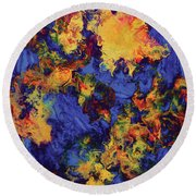 Creature From The Depth Round Beach Towel