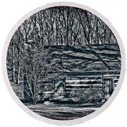 Creepy Cabin In The Woods Round Beach Towel