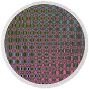 Crepe Myrtle Abstract Round Beach Towel