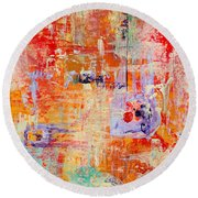 Crescendo Round Beach Towel