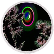 Crescent And Palms 3 Round Beach Towel