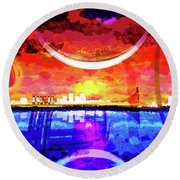Crescent City Round Beach Towel