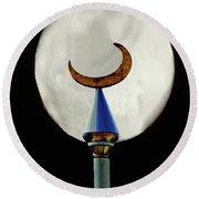Crescent Full Moon Round Beach Towel