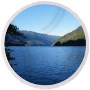 Crescent Lake, Washington Round Beach Towel