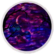 Crescent Moon Round Beach Towel