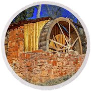 Crescent Moon Ranch Water Wheel Round Beach Towel