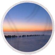 Crescent Sunrise Round Beach Towel