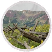 Crested Butte Color Round Beach Towel
