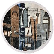 Crested Butte In The 80's Round Beach Towel