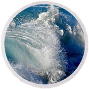 Cresting Wave Round Beach Towel