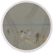 Cricket On The Goodwin Sands Round Beach Towel