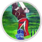 Cricket Warrior Round Beach Towel