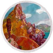 Crimea Round Beach Towel