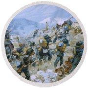 Crimean War And The Battle Of Chernaya Round Beach Towel