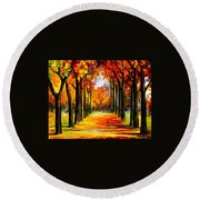 Crimson Alley Round Beach Towel