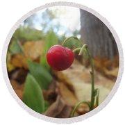 Crimson Berry Round Beach Towel