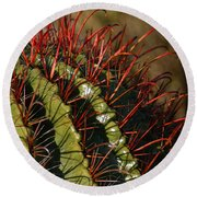 Crimson Thorns 2 Round Beach Towel
