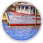 Crimson Tide Round Beach Towel