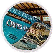 Cripes Almighty Round Beach Towel
