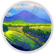 Croagh Patrick County Mayo Round Beach Towel