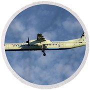 Croatia Airlines Bombardier Dash 8 Q400 Round Beach Towel