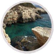 Croatia Round Beach Towel