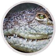 Crocodile Eye Round Beach Towel