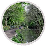 Cromford Canal - Tree Lined Walk Round Beach Towel
